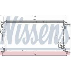 Радиатор Кондиционера Лансер 9  MN151100