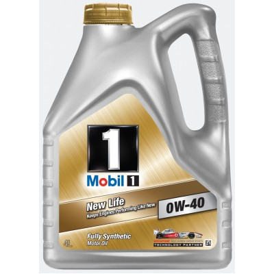 Mobil 1 New Life 0w40 4л  масло моторное 	150031