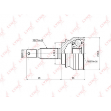 Шрус Наружный Lancer 10  2.0  Outlander XL CO3644