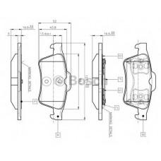 Колодки тормозные OPEL Astra H зад Зафира Мерива (1,8-2,2) BSG65200012