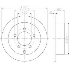 Диск Тормозной Задний Lancer 10 PBD4973