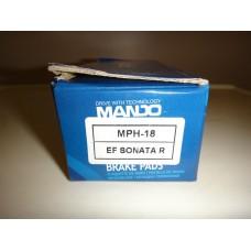 Колодки Тормозные Диск.Задние Сонат 5 Туксон -08 Спортаж MPH18 Mando